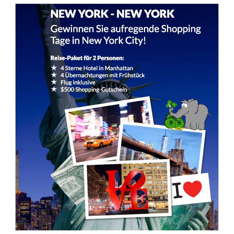 New York Trip gewinnen Vorschau