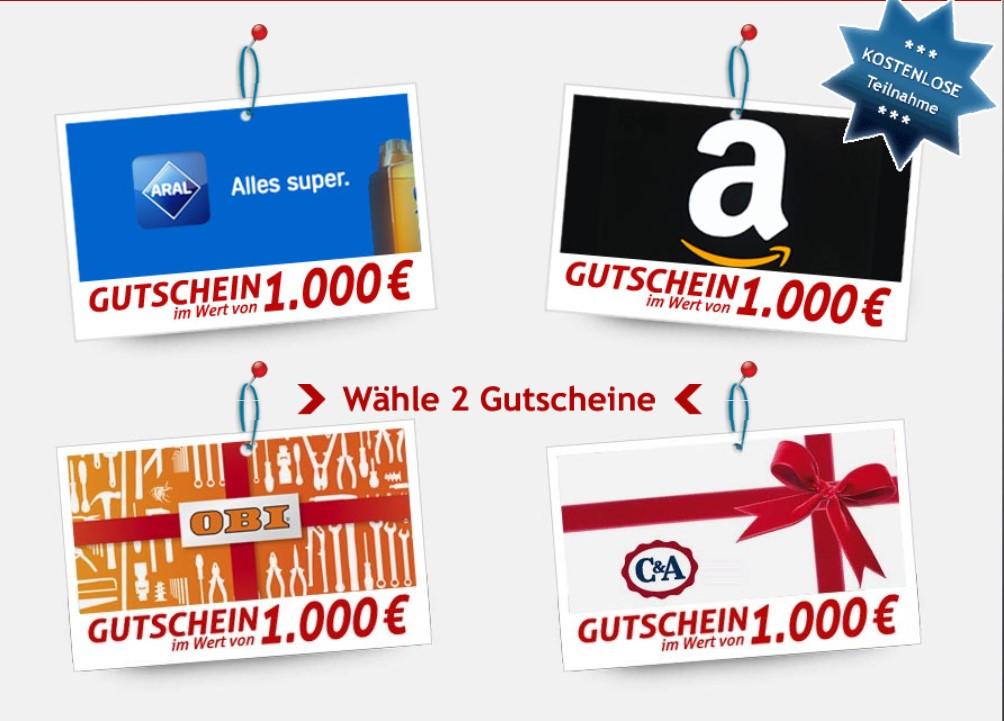 Shoppinggutscheine gewinnen Galerie